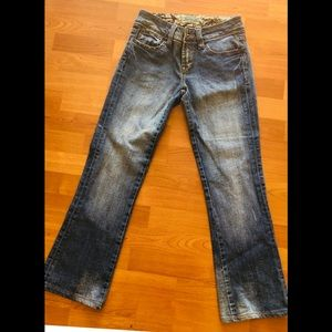 7 for all mankind bootcut flair blue jeans size 27